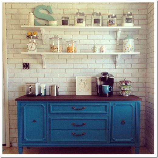 bright colored kitchen buffet  coffee barnever knew