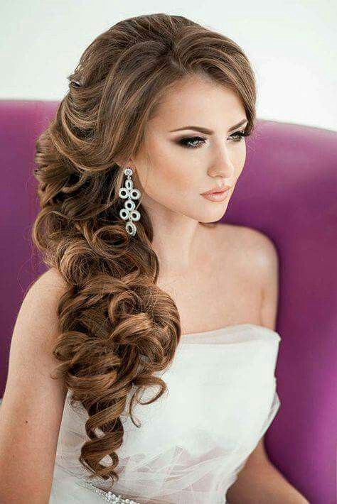 25 Best Ideas About Side Curls Hairstyles On Pinterest Side