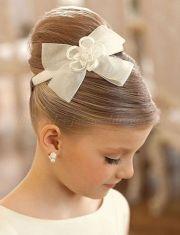 flower girl hairstyles flowergirl - hairstyle elegant top bun