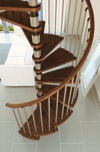 Misterstep Gamia Wood Spiral Staircase Kit - Silver metal ...