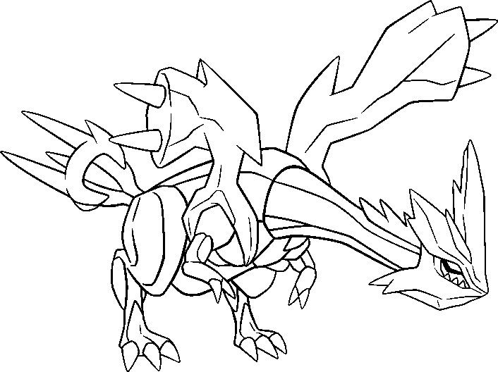 Pokemon Coloring Pages Kyurem Create A Tattoo Design As