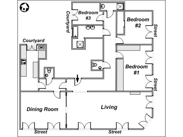 Paris Apartment Floor Plan we can do dining and living