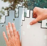 Use decorative window film instead of curtains :) | DIY ...