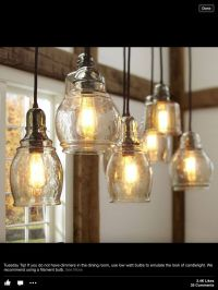 Pottery Barn kitchen pendants