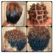 bantu knots permed hair. hair