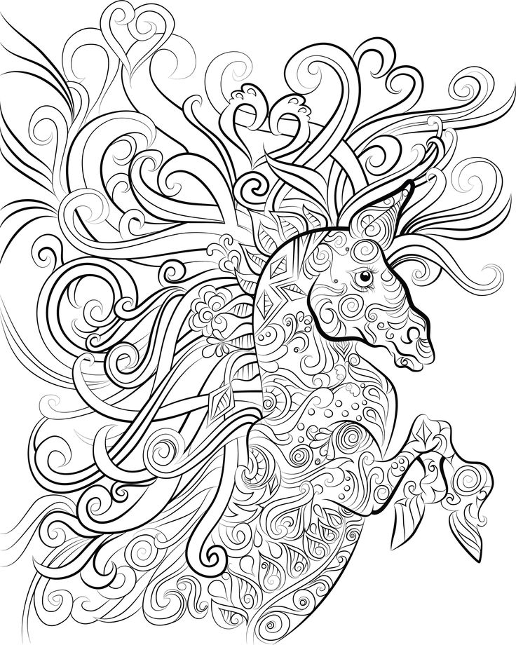 17+ best images about Animal Coloring Pages for Adults on