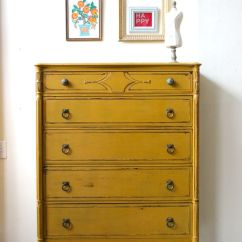 How To Refinish Kitchen Sink Comfort Mat Mustard Yellow Dresser Painted With Milk Paint | My Work ...