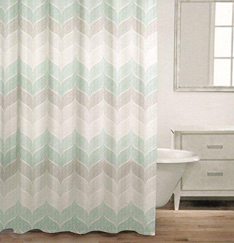 Caro Home 100 Cotton Shower Curtain Wide Stripes Chevron