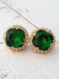 25+ Best Ideas about Emerald Earrings on Pinterest
