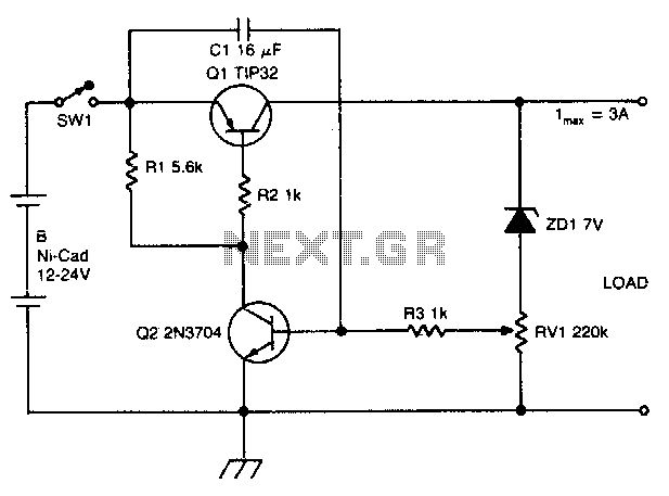 discharge nicad battery electronic projects circuits