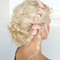 25+ best ideas about Curly wedding updo on Pinterest