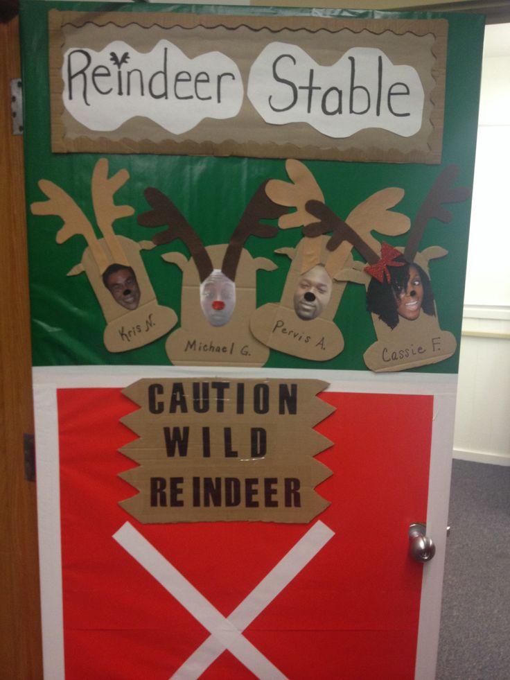 """Christmas Door Decoration! """"Caution Wild Reindeer"""