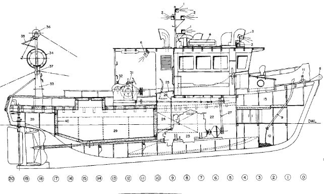 Boat plans for a 24′ trailerable commercial fishing gravy