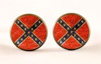 Confederate Flag Earrings Southern Cross Stud by EgginEgg ...