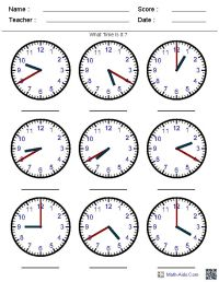 25+ best ideas about Clock worksheets on Pinterest ...