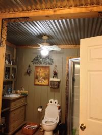 Barn tin bathroom ceiling...or in basement bedrooms ...