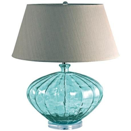Recycled Glass Melon Table Lamp
