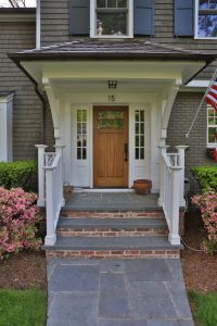 Bluestone & Brick Front Entrance Steps | Masonry, Patios ...