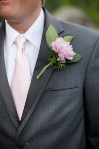 Grey Suit, Blush Pink Tie, Pink Boutonniere | Wedding ...