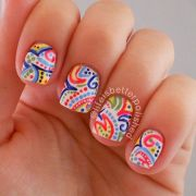 ideas paisley nail