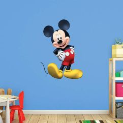 Minnie Mouse Folding Chair Faux Cowhide 1000+ Ideas About Mickey Wall Decals On Pinterest | Bedroom, And ...