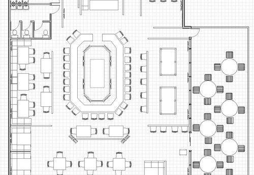 Commercial Office Building Floor Plans, restaurant floor