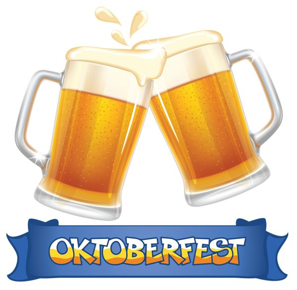 oktoberfest blue banner and beers