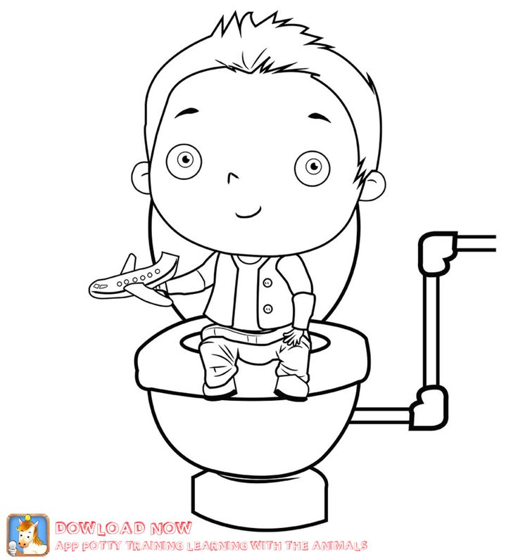 Toilet Coloring Pages Sketch Coloring Page