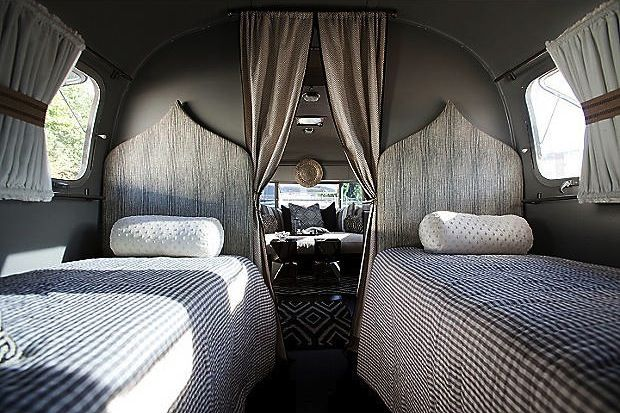 Airstream  Glamping Chic vintage camper with Moroccan