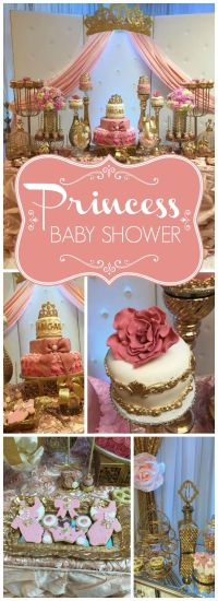 """Princess Baby Shower / Baby Shower """"Little Princess on her ..."""