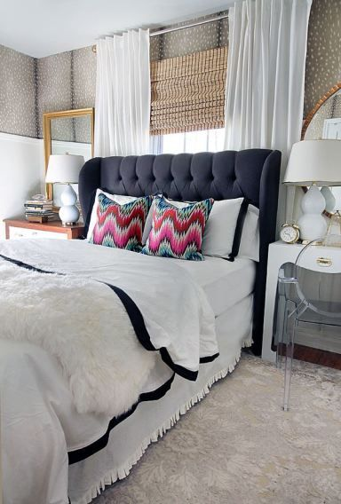 1000 Ideas About Navy Headboard On Pinterest