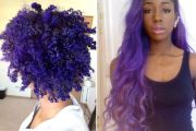 purple hair african american