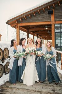 Winter Wonderland Wedding Bridesmaid Dresses