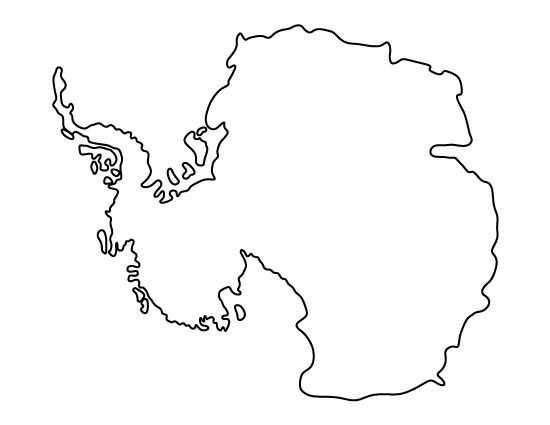 Antarctica pattern. Use the printable outline for crafts