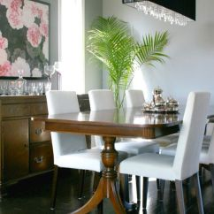Parson Dining Room Chairs Upholstered Mixing Styles: Duncan Phyfe Table With More Modern Chairs?