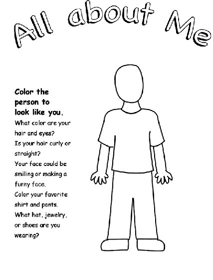 All About Me coloring page.Luke 2:40,