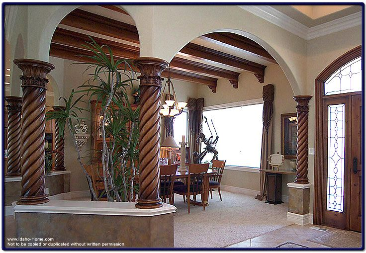 woodwork design for living room dark wood furniture photo of interior beams and brackets   columns with ...