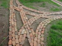 Reclaimed brick garden path under constructions | Dirt ...