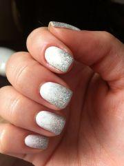 silver white ombre pretty