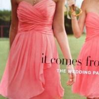 Coral bridesmaid dresses from David's bridal | Wedding ...
