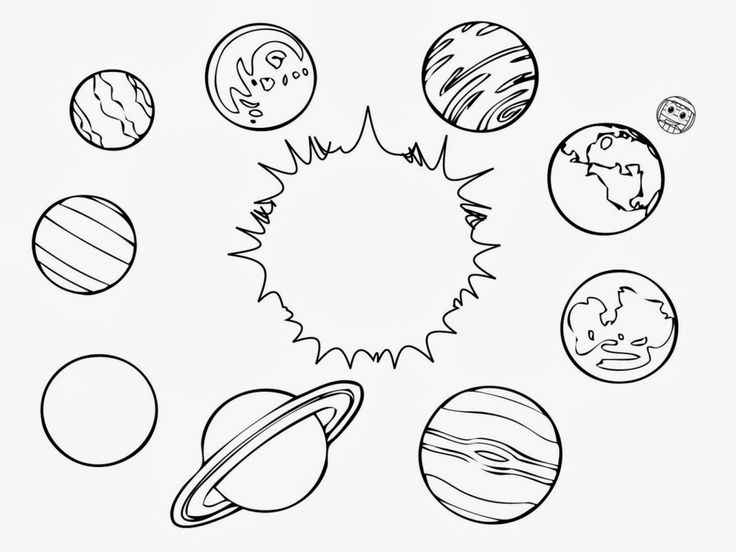 Solar System Color Page : Printable Solar System Coloring