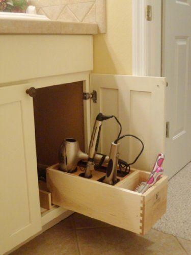Master Bath Hair Appliance Organizer Hair Dryer Flat