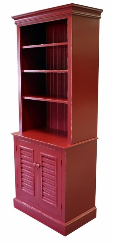 One Piece Bermuda Bookcase  Red bookcase