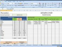 Landlords Spreadsheet Template, Rent and Expenses