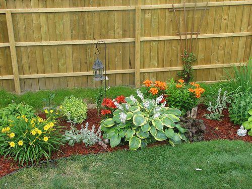 perennial garden side of house