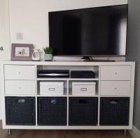 TV stand hack using the IKEA Kallax system, adding new ...