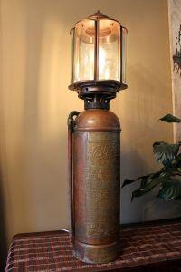 Antique fire Extinguisher Lamp (ca1930...ish), Excellent ...
