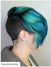 turquoise teal green dyed hair