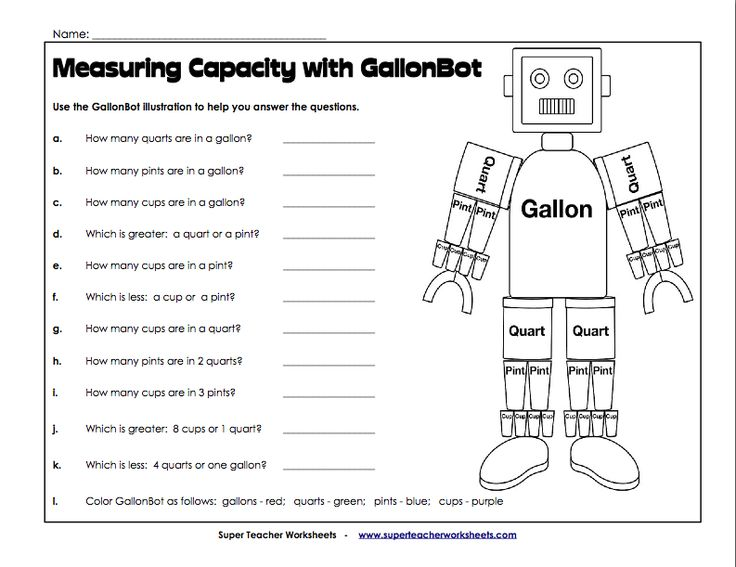 17 Best images about 3rd Grade Capacity Lessons on