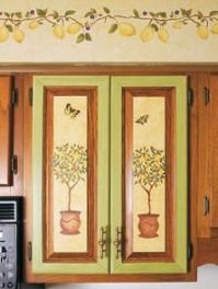 17 Best images about Stenciled Kitchen Cabinets on ...